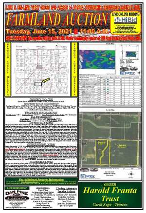 Farmland Auction in Southern Minnesota and Northern Iowa